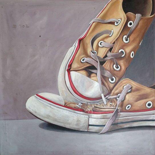 "Santiago Garcia, ""Converse 502"", 40""x40"", oil on canvas"