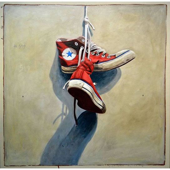 "Santiago Garcia, ""Converse 519"", 36""x36"", oil on canvas"