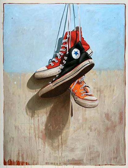 "Santiago Garcia, ""Converse 7"", 54""x48"", oil on canvas"