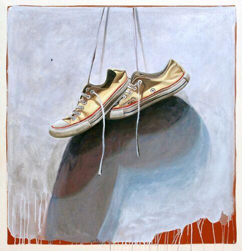 "Santiago Garcia, ""Converse 22"", 48""x48"", oil on canvas"