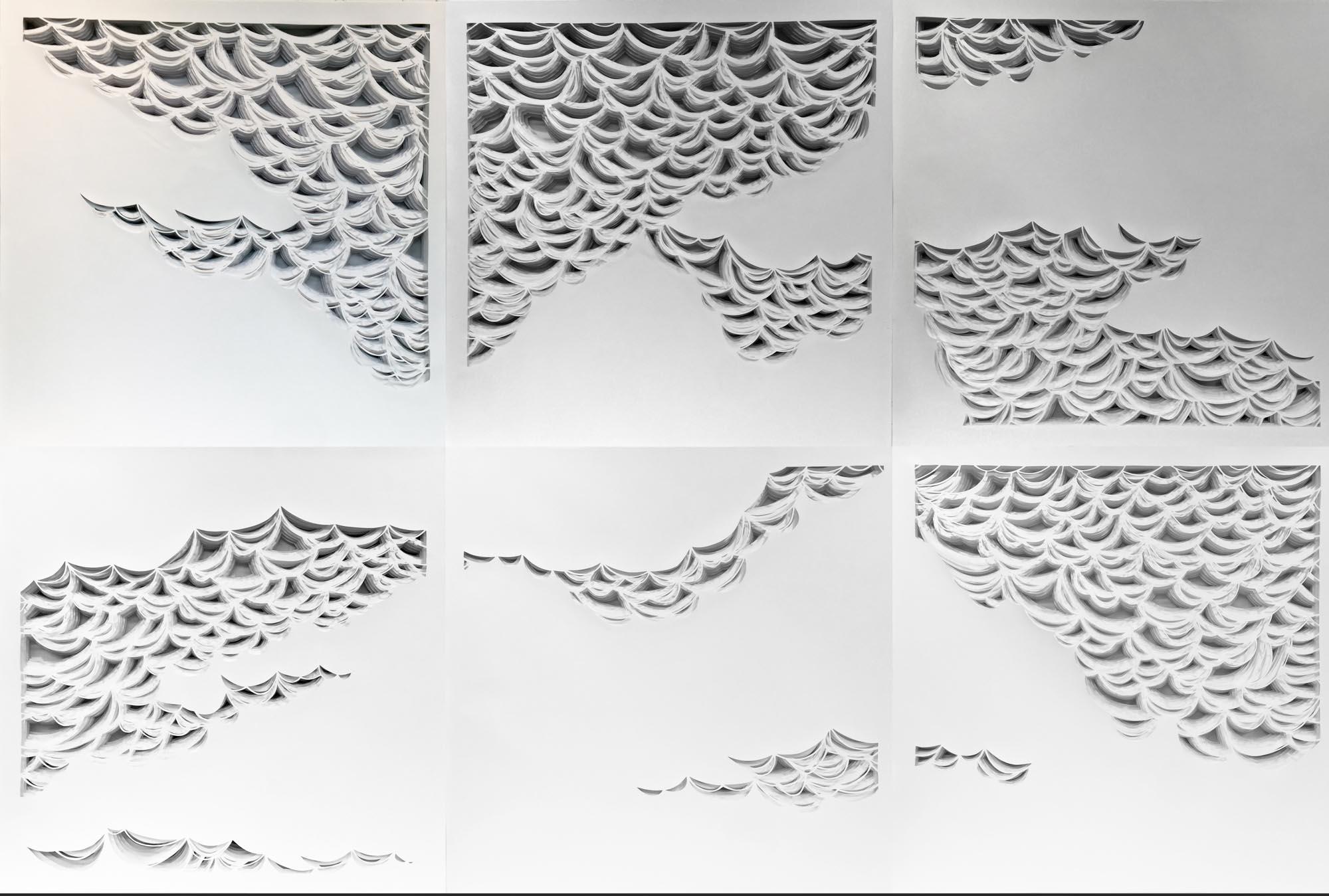 """Laura Alexander, """"Drift"""", 48""""x72"""", paper on foam board"""