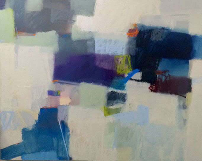 "Sharon Paster, ""Oscillating"", 48""x60"", mixed media on canvas"
