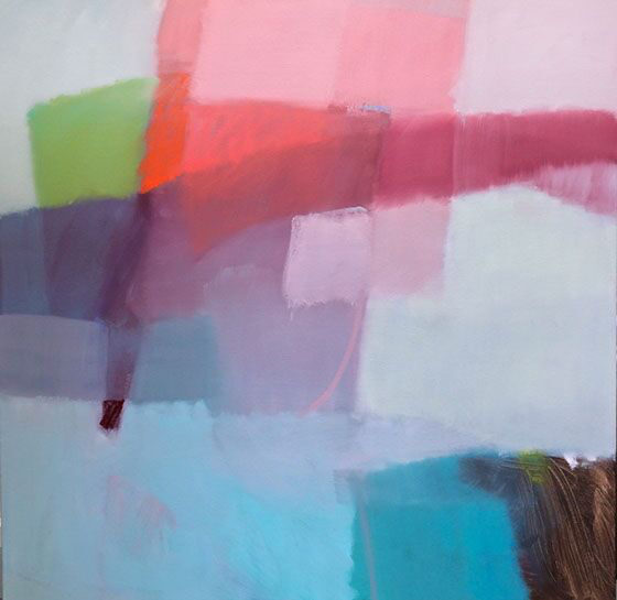 "Sharon Paster, ""Dreaming"", 60""x60"", mixed media on canvas"