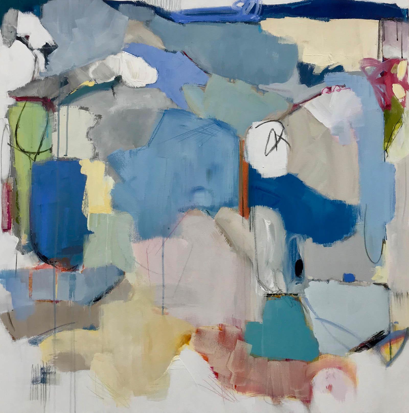 "Maria Burtis, ""Elapse"", 36""x36"", acrylic on canvas"