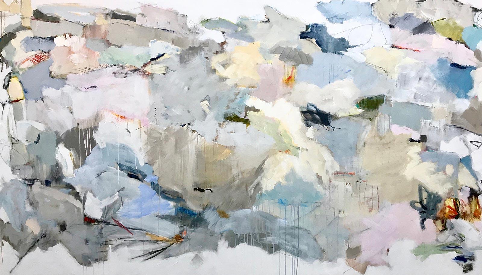 """Maria Burtis, """"Love Letter"""", 62""""x107"""", acrylic on canvas"""