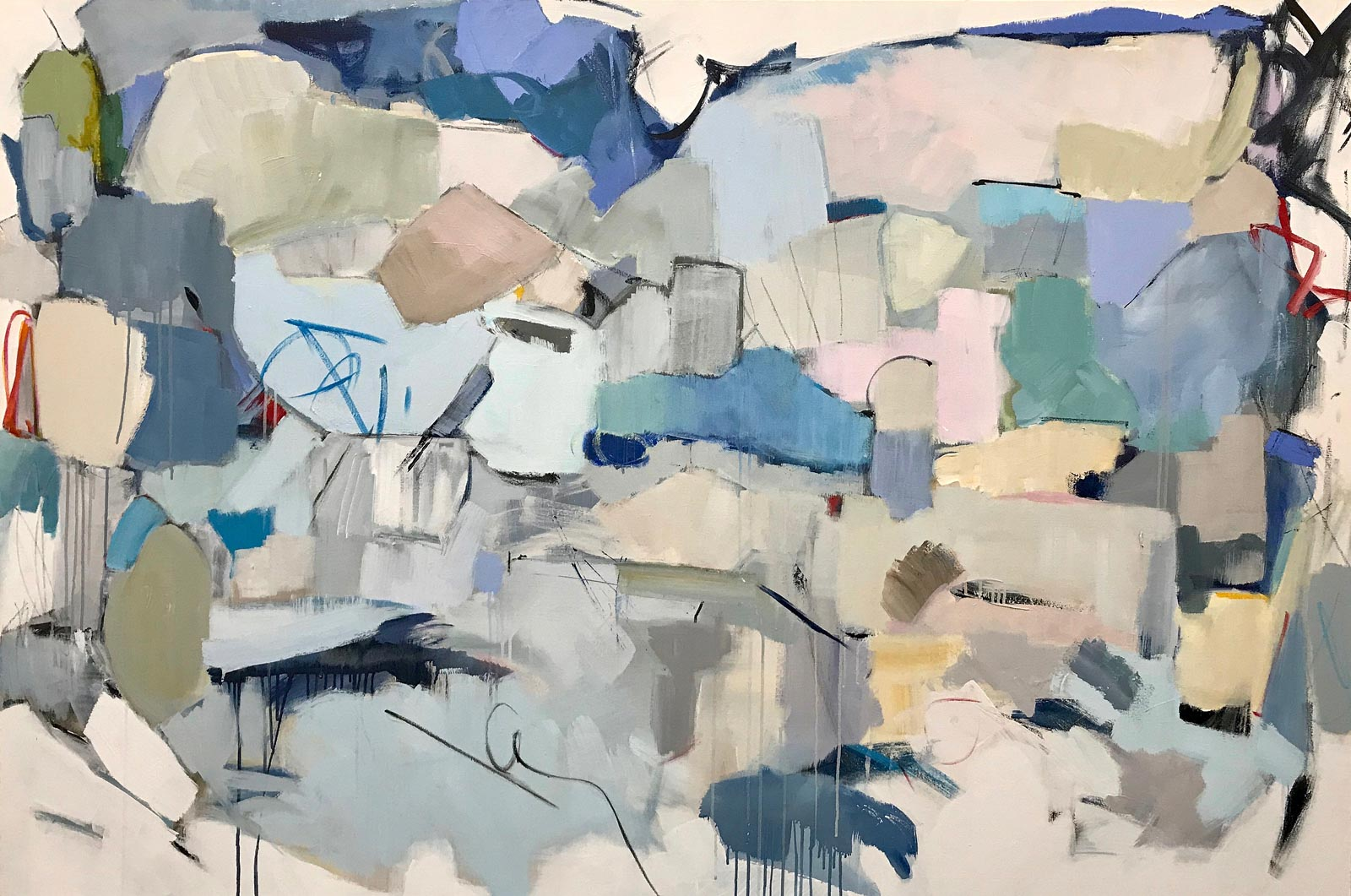 "Maria Burtis, ""Excavation"", 48""x72"", acrylic on canvas"