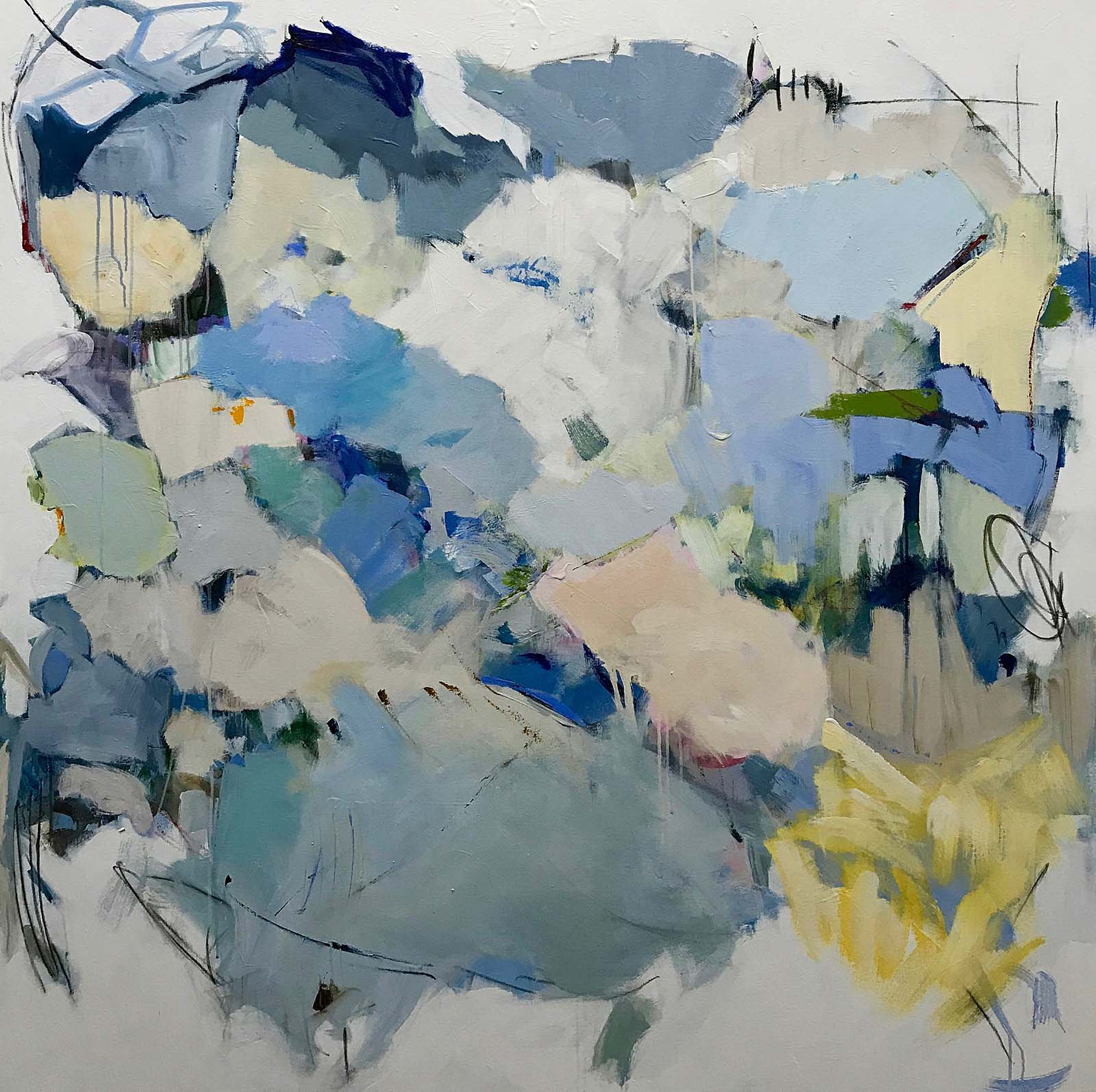 "Maria Burtis, ""Layered Haiku"", 60""x60"", acrylic on canvas"