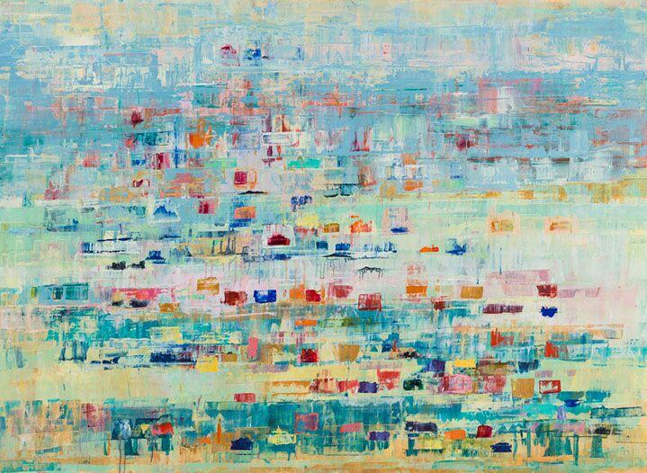 "Suzy Barnard, ""April May '18"", 44""x60"", oil on panel"