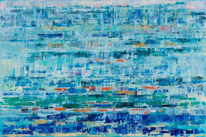 "Suzy Barnard, ""Bright & Breezy"", 48""x72"", oil on panel"