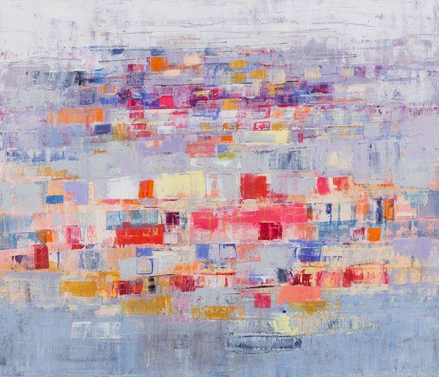 "Suzy Barnard, ""Rose & Lavender"", 44""x51"", oil on panel"