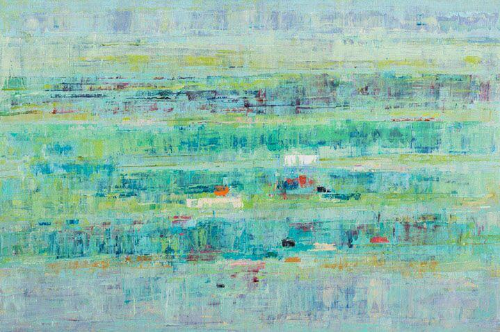 "Suzy Barnard, ""Soft & Brilliant"", 48""x72"", oil on panel"