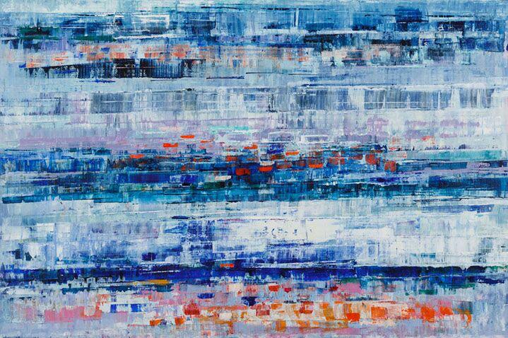 "Suzy Barnard, ""Day Dream"", 48""x72"", oil on panel"