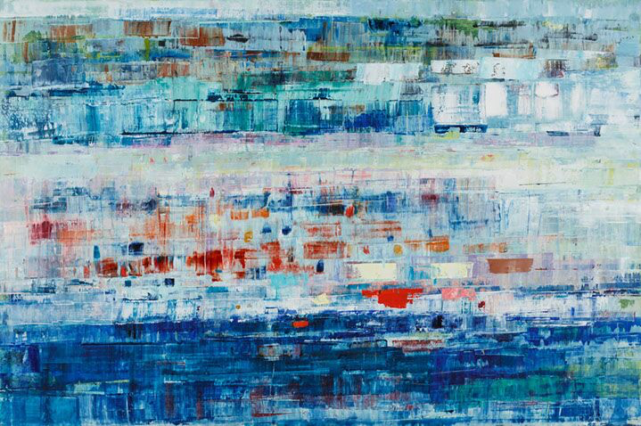 "Suzy Barnard, ""Once Upon a Time"", 48""x72"", oil on panel"