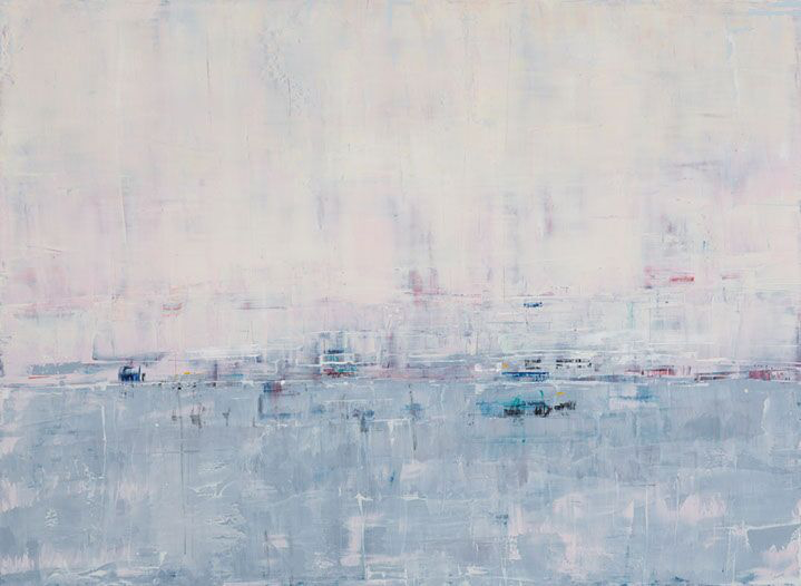 """Suzy Barnard, """"Grey Morning Blush"""", 44""""x60"""", oil on panel"""