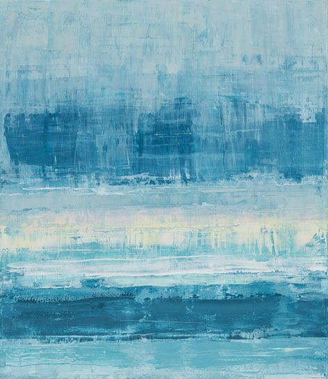 "Suzy Barnard, ""Grey Days & Gold"", 44""x38"", oil on panel"