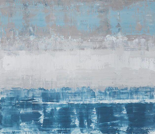 "Suzy Barnard, ""Silvertone"", 44""x51"", oil on panel"
