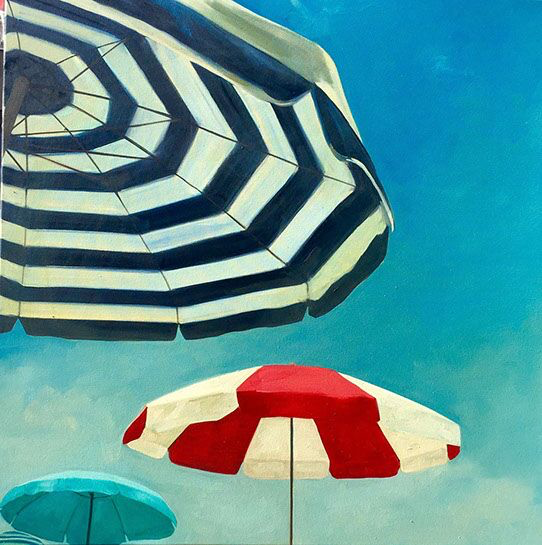 """T.S. Harris, """"Ready for Relaxing"""", 40""""x40"""", oil on canvas"""