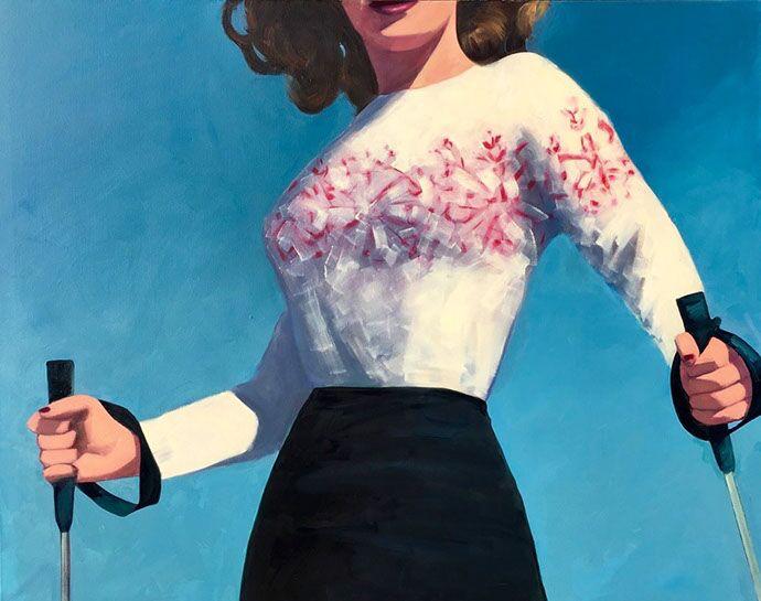 "T.S. Harris, ""Mountain Top"", 48""x60"", oil on canvas"