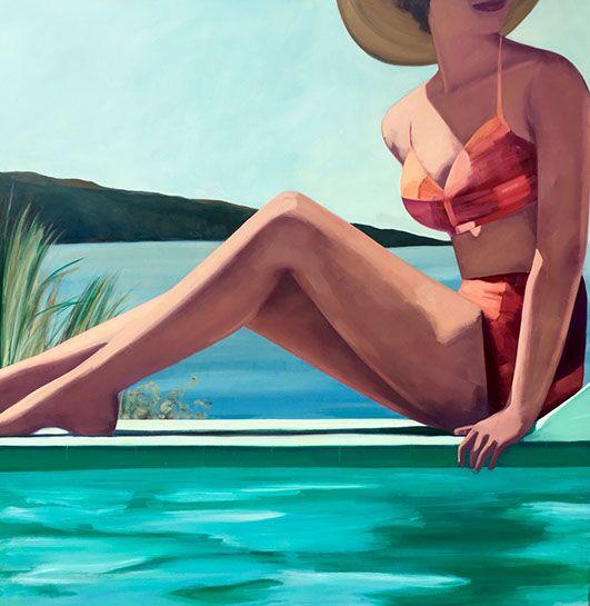 "T.S. Harris, ""Madras Summer"", 60""x60"", oil on canvas"
