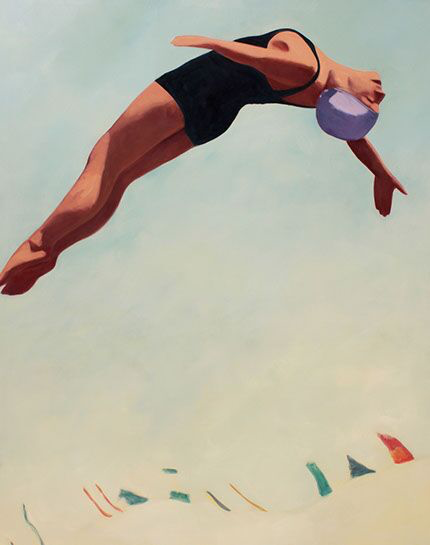 """T.S. Harris, """"Touching the Sky"""", 60""""x48"""", oil on canvas"""