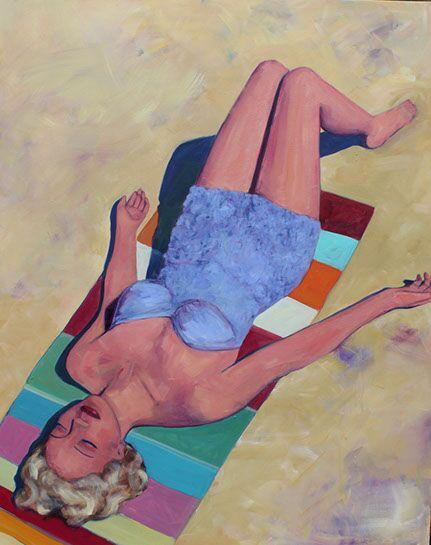 """T.S. Harris, """"Sun Worship"""", 60""""x48"""", oil on canvas"""