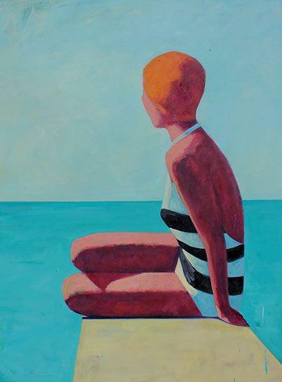 """T.S. Harris, """"Seaside #2"""", 48""""x36"""", oil on canvas"""
