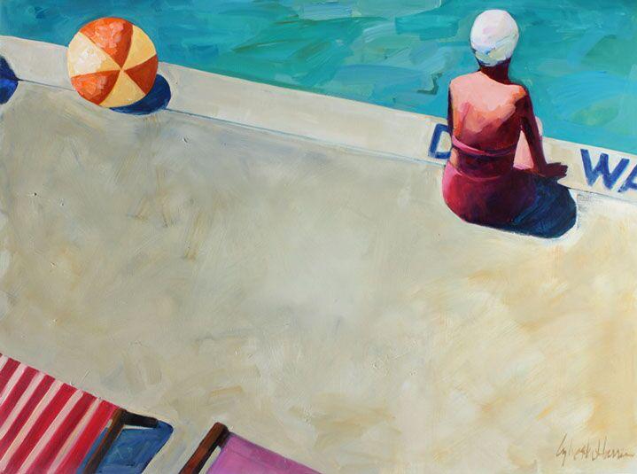 "T.S. Harris, ""Deep Water"", 36""x48"", oil on canvas"