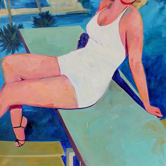 "T.S. Harris, ""Hollywood"", 42""x42"", oil on canvas"