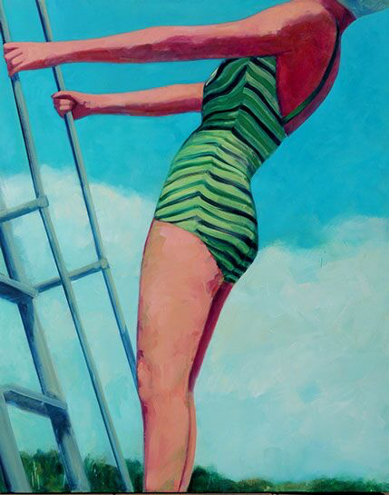 """T.S. Harris, """"High Dive"""", 60""""x48"""", oil on canvas"""