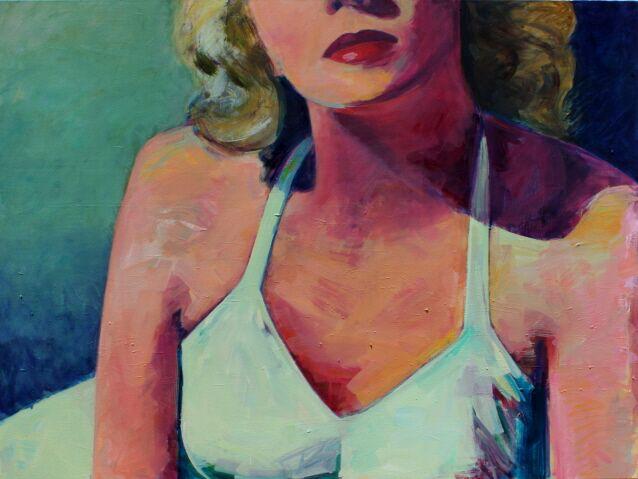 "T.S. Harris, ""Dark Blue Midnight"", 36""x48"", oil on canvas"