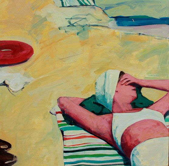 "T.S. Harris, ""Sunshade"", 40""x40"", oil on canvas"