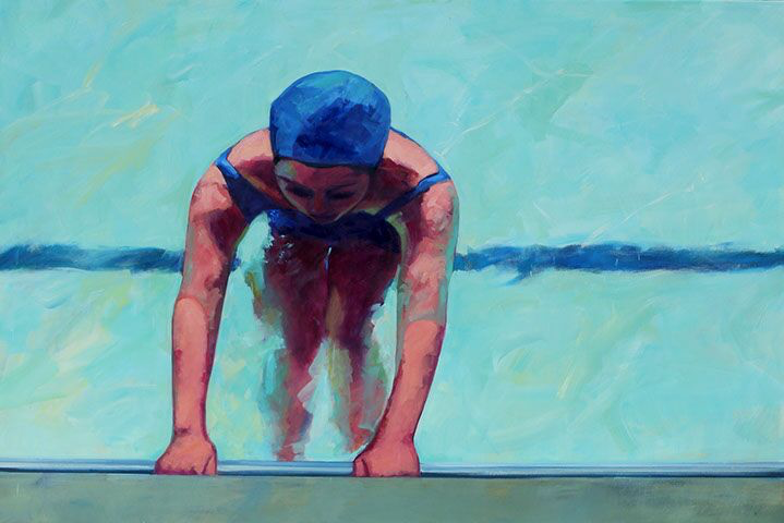 """T.S. Harris, """"Ready to Push"""", 48""""x72"""", oil on canvas"""