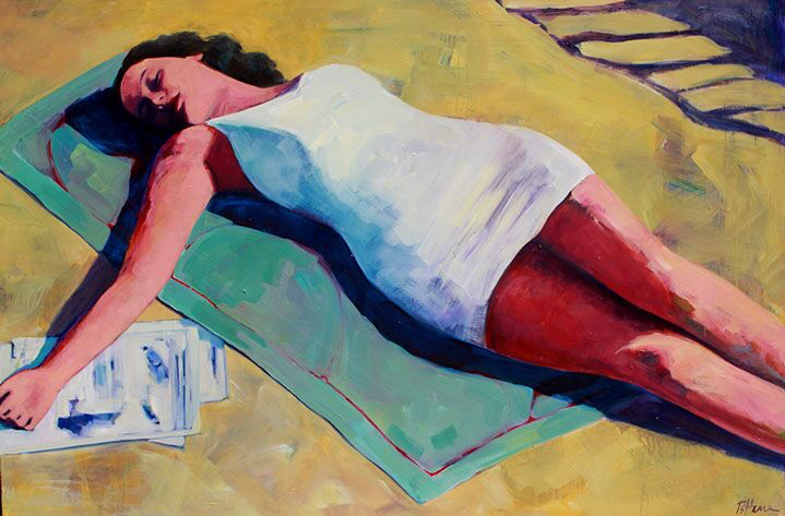 "T.S. Harris, ""The Scarlett"", 40""x60"", oil on canvas"