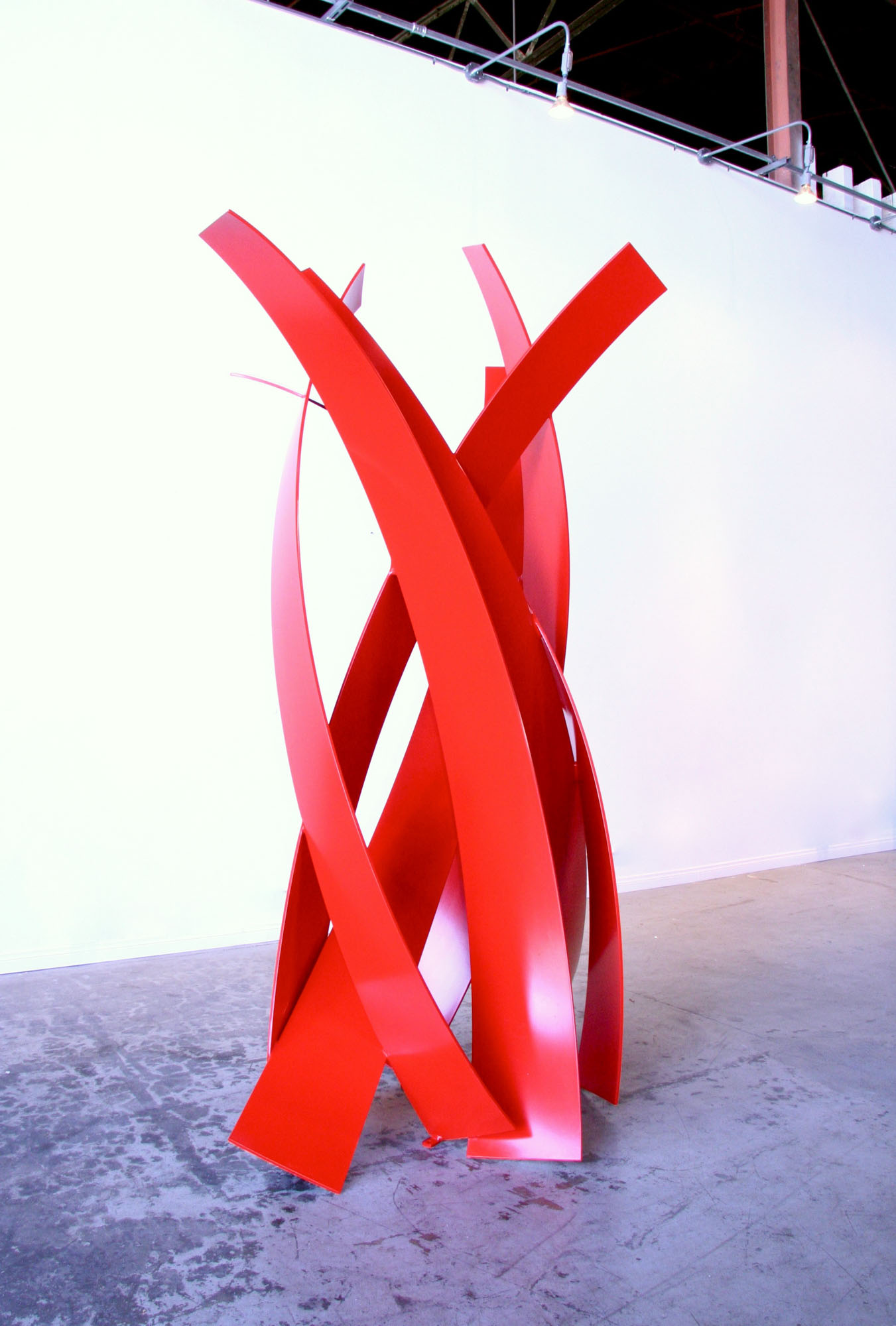 "Matt Devine, ""1200 Degrees, 2013"", 103""H x 64""W x 52"" D, aluminum with powder coat paint"