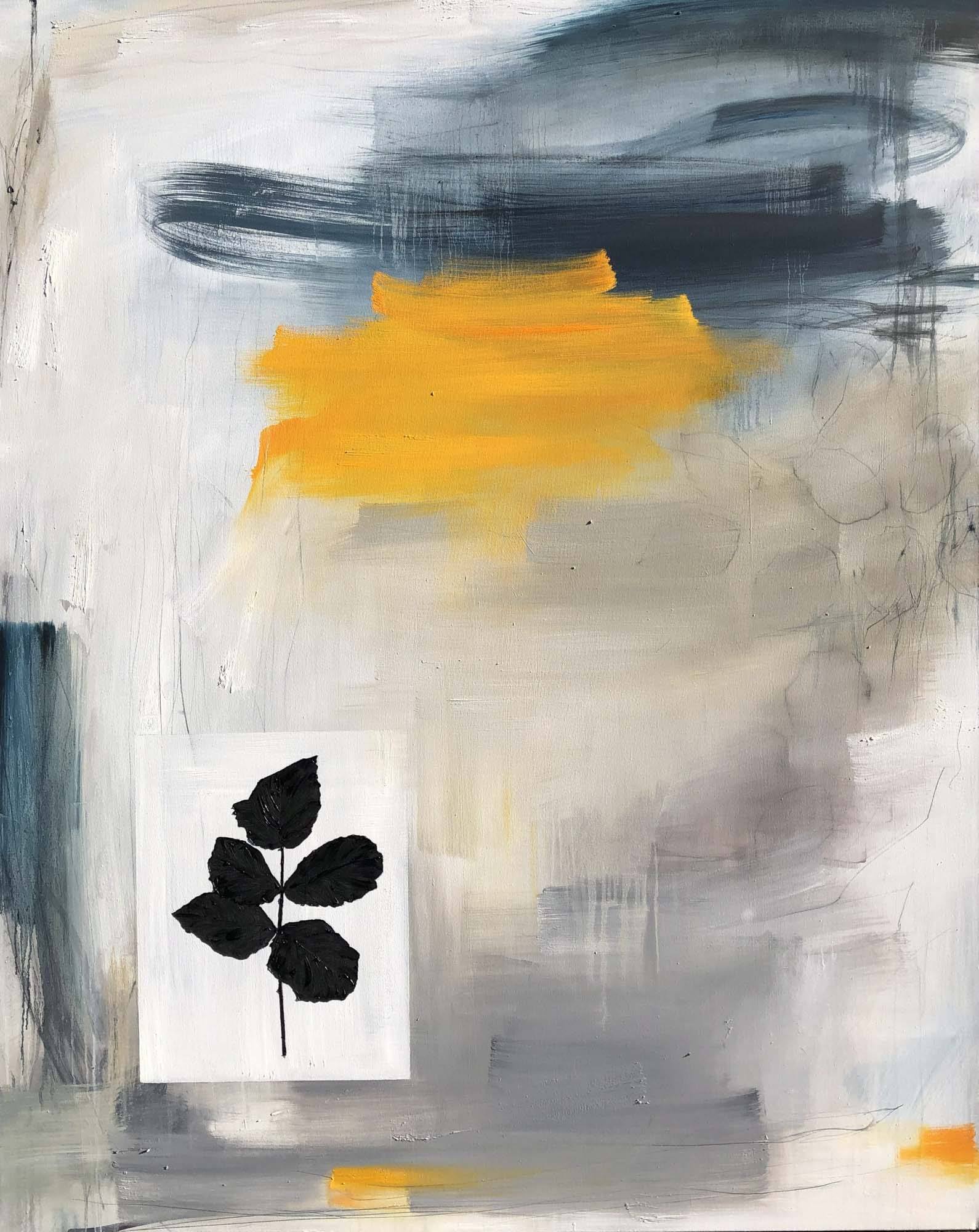"""Monika Steiner, """"What Remains"""", 60""""x48"""", oil on canvas"""