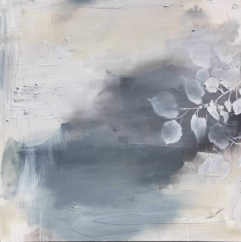 """Monika Steiner, """"Stillness Underneath"""", 36""""x36"""", oil on canvas"""
