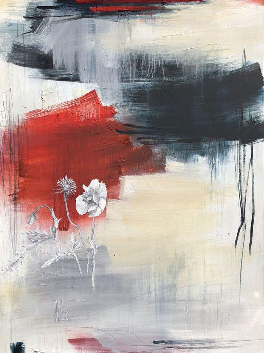 """Monika Steiner, """"Time Tells"""", 48""""x36"""", oil on canvas"""