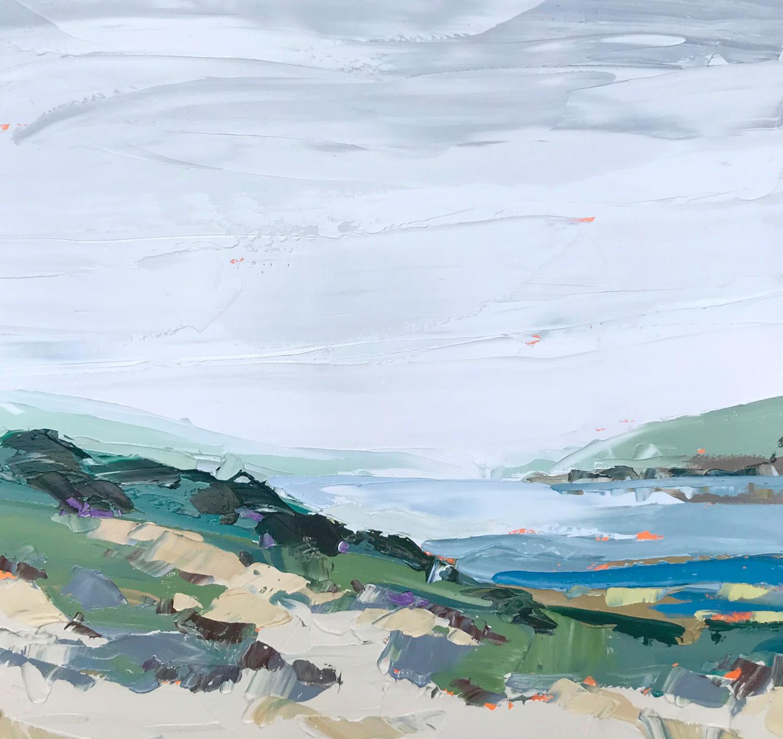 "Paul Norwood, ""Morning Fog"", 60""x60"", oil on canvas"