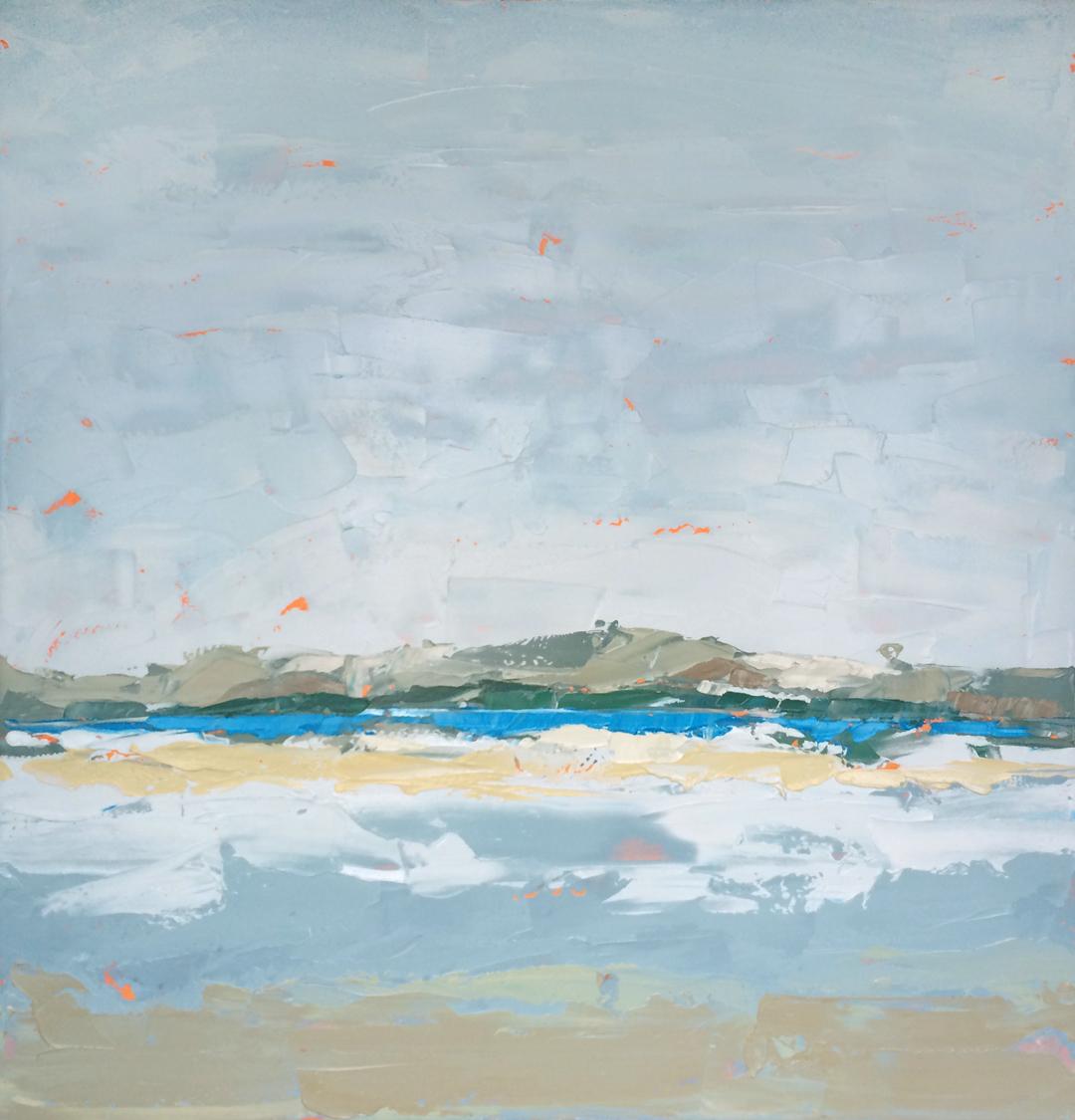 "Paul Norwood, ""Blue Ribbon"", 60""x60"", oil on canvas"