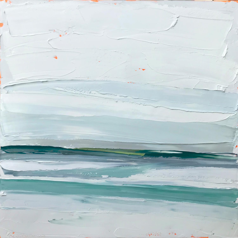 "Paul Norwood, ""Distant Shore"", 60""x60"", oil on canvas"