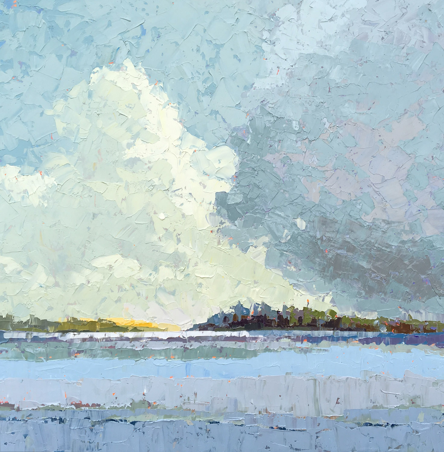 """Paul Norwood, """"Parting Clouds"""", 60""""x60"""", oil on canvas"""