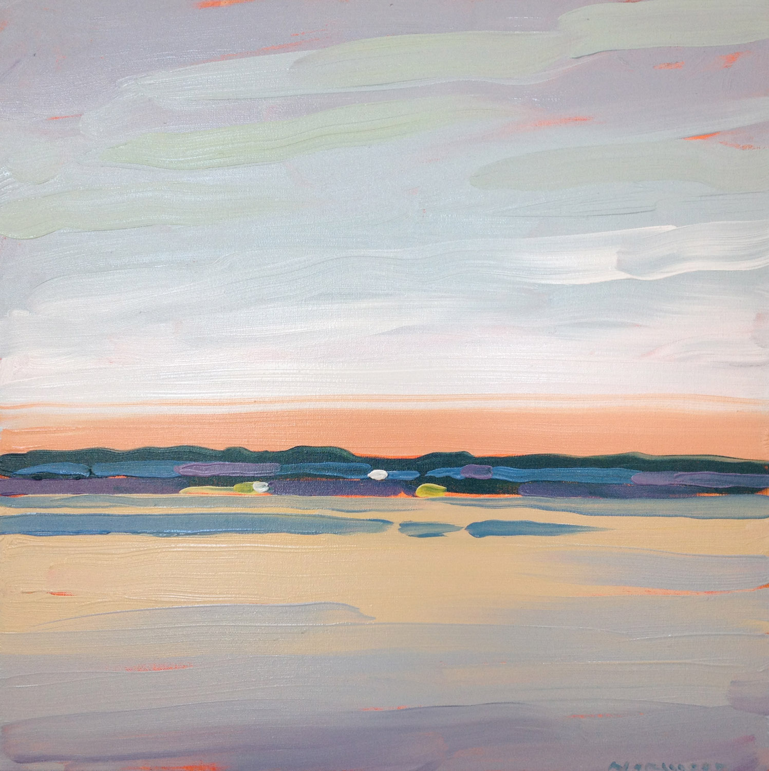 """Paul Norwood, """"On the Shore"""", 24""""x24"""", oil on canvas"""