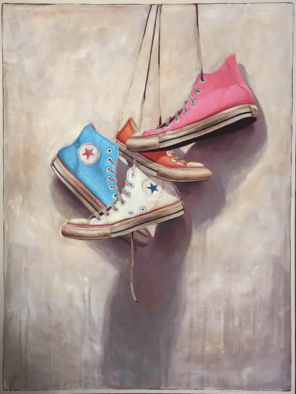 "Santiago Garcia, ""Converse 202"", 60""x80"", oil on canvas"