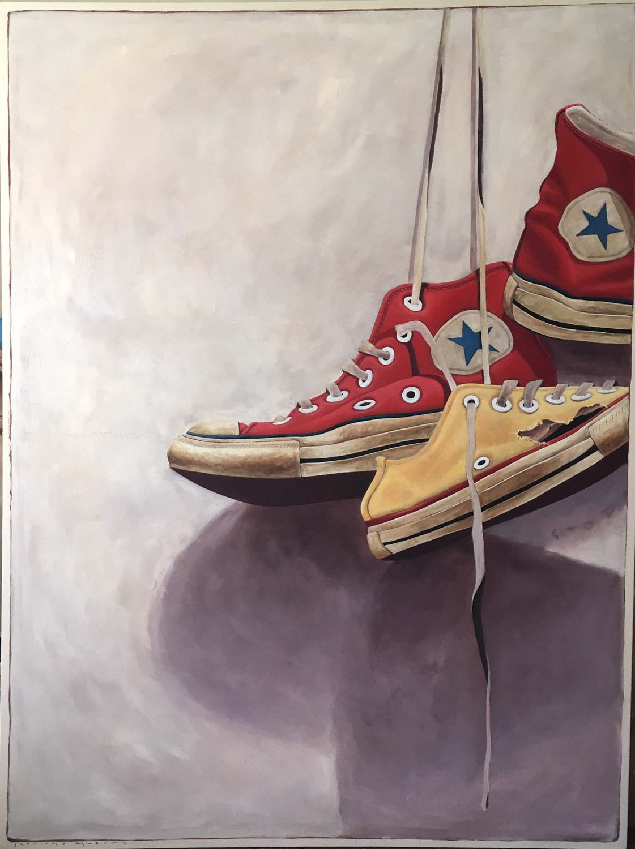 "Santiago Garcia, ""Converse 203"", 60""x80"", oil on canvas"