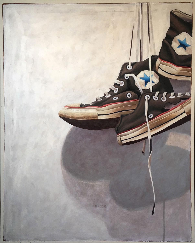 "Santiago Garcia, ""Converse 1093"", 60""x48"", oil on canvas"