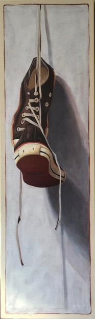 "Santiago Garcia, ""Converse 23"", 50""x15"", oil on canvas"