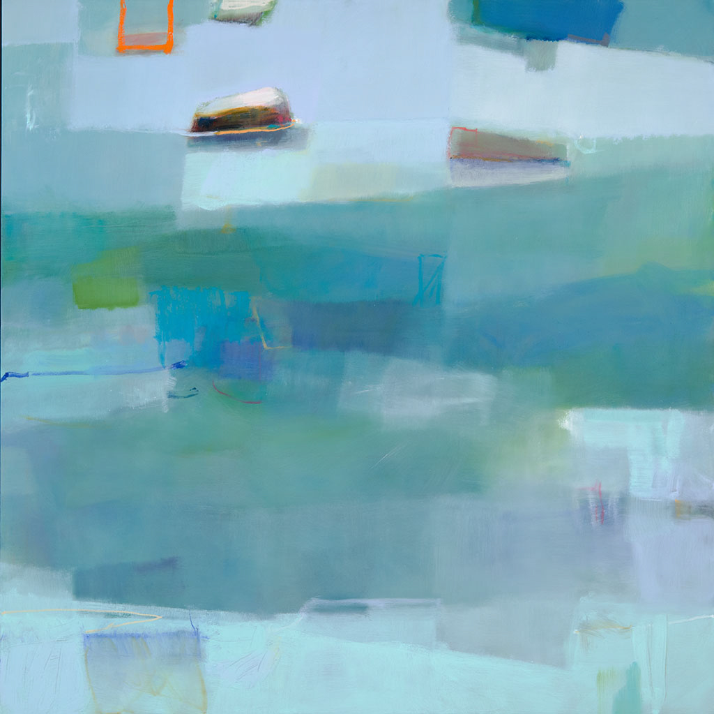 "Sharon Paster, ""Safe Space"", 60""x60"", mixed media on canvas"