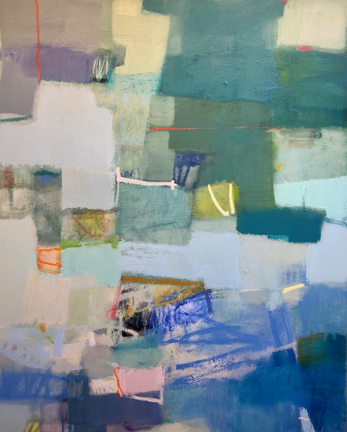 "Sharon Paster, ""Lightness of Being"", 60""x48"", mixed media on canvas"