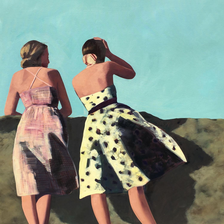 "T.S. Harris, ""Summer Breeze"", 48""x48"", oil on canvas"