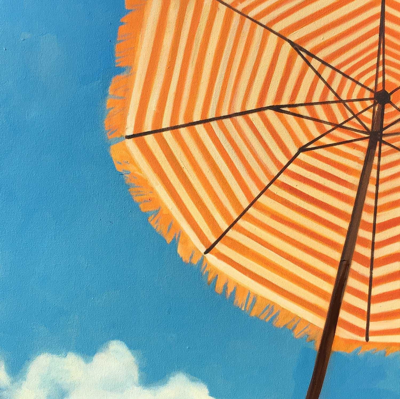 "T.S. Harris, ""Bright Blue Sky"", 20""x20"", oil on canvas"